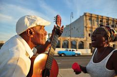 Stock Photo of Cuban singing in Havana