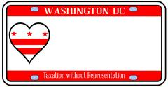 washington dc license plate - stock illustration