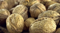 Rotating walnuts (not loopable) Stock Footage