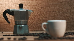 Espresso first think in the morning Stock Footage