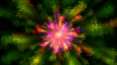 4k Abstract rotating color flower light pattern background,art firework element Stock Footage
