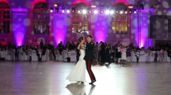 One pair is whirling in front of crowd on Kremlin Cadet Ball Stock Footage