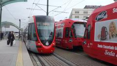 Light Rail System in Istanbul (Editorial) Stock Footage