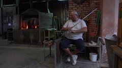 Venice Italy Murano glass blower HD 022 Stock Footage