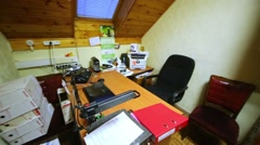 Overview of office rooms from door point that is between them. Stock Footage