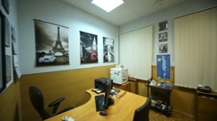 Travel agency COLINDA office in building at Lyalin Lane. Stock Footage