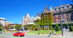 4K Victoria Canada British Columbia Canada, Downtown Summer Day Stock Footage