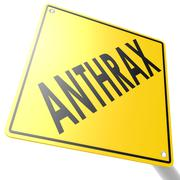 road sign with anthrax - stock illustration