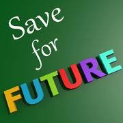 save for future - stock illustration