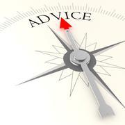 Advice compass Stock Illustration
