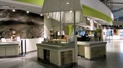 Airport Restaurant  Dublin Airport Stock Footage