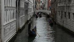 Venice Italy romance Canal Gondola rides HD 021 Stock Footage