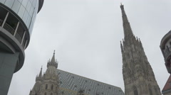 Vienna Stephen's cathedral _6 4K Stock Footage