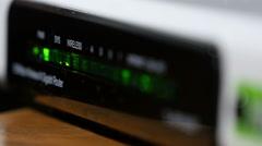 Wi-Fi Modem Lights Flashing - stock footage
