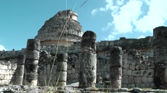 Stock Video Footage of Mexico Yucatan Central America Chichen Itza 003 El Caracol observatory temple