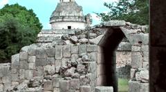 Mexico Yucatan Central America Chichen Itza 012 El Caracol observatory temple Stock Footage