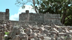 Mexico Yucatan Central America Chichen Itza 013 zoom out from a stone heap Stock Footage