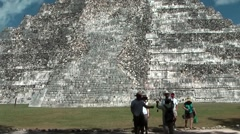 Mexico Yucatan Central America Chichen Itza 016 Temple of Kukulkan - stock footage
