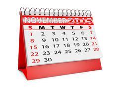 Stock Illustration of calendar for november