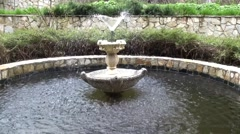 fountain multi-tiered in the park - stock footage