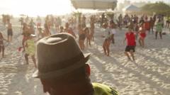Men Dancing Zumba - Rio de Janeiro - Brazil Stock Footage