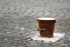 Water pail on the street Stock Photos