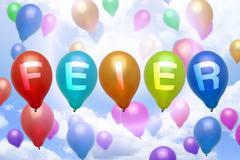 Stock Illustration of german celebration balloon colorful balloons
