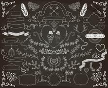 Hand-Drawn Doodle Design Elements Stock Illustration