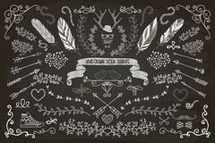 Hand-Drawn Floral Design Elements Stock Illustration