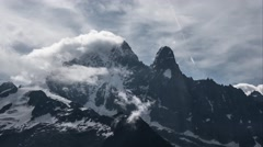High Mountains / Alps Peaks, Moving  Clouds Time Lapse Stock Footage