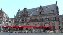 The old Town Hall, Grote Markt, Nijmegen, Netherlands. - stock footage