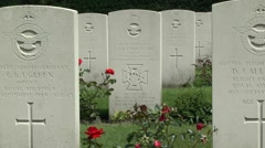 Grave of Flt Lt David Lord VC DFC, Arnhem Oosterbeek War Cemetery,Netherlands. Stock Footage