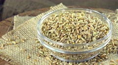 Portion of green spelt (loopable) Stock Footage