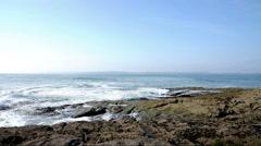 Windy Atlantic ocean, Ireland Stock Footage