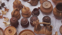 Ukraine, clay products Stock Footage