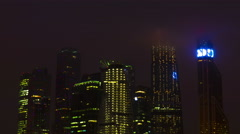 New City center night view, on December 13th, 2014 in Moscow,   is situated on Stock Footage