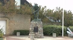 The S Lancs Regiment Memorial, La Breche d'Hermanville, Normandy, France Stock Footage