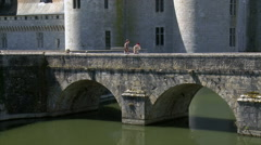 Chateau de Sully-sur-Loire - Sully sur Loire, France Stock Footage