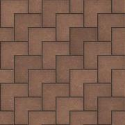 Stock Illustration of Brown Pavement in the Form of Superposed Squares.