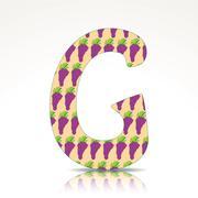 The letter g of the alphabet made of grape Stock Illustration