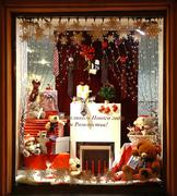 Christmas decoration showcase store pal zileri nizhny novgorod Stock Photos