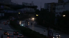 Early morning traffic in Karachi - stock footage