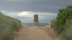 The Liberation Memorial on Juno Beach, Graye Sur Mer, Normandy, France. Stock Footage
