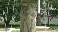 Statue Fountain - Jefferson City Capital - 720p Stock Footage
