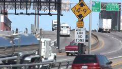 Downtown St. Louis - Traffic, Highways and Signs - 720p Stock Footage