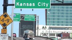 Downtown St. Louis Signs and Highways 720p Stock Footage