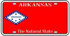 Arkansas state license plate Stock Illustration