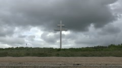 The Cross of Lorraine at Courseulles-sur-mer, Normandy, France. Stock Footage