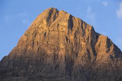 early morning light on ha ling peak - stock photo