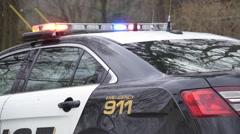 Police Car Near a Crime Scene (1 of 5) - stock footage